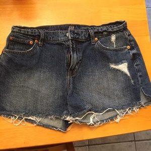 Women's GAP denim frayed shorts